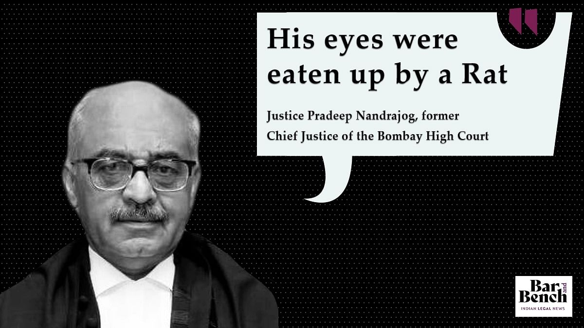 Justice Nandrajog recounts a case that came before him