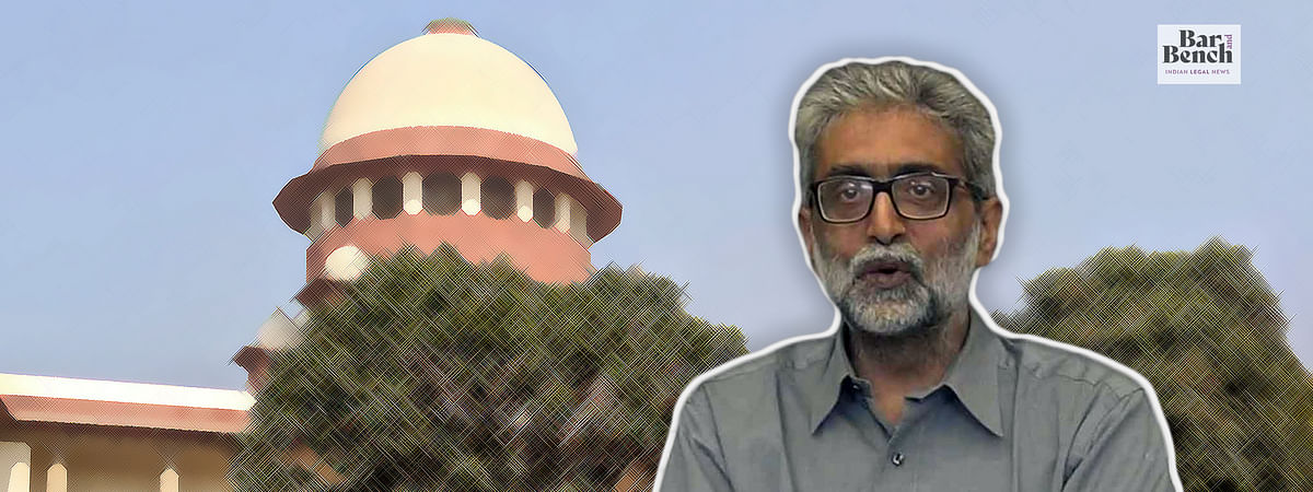 Bhima Koregaon: Supreme Court stays proceedings before Delhi High Court for Gautam Navlakha's interim bail, issues notice on NIA's plea