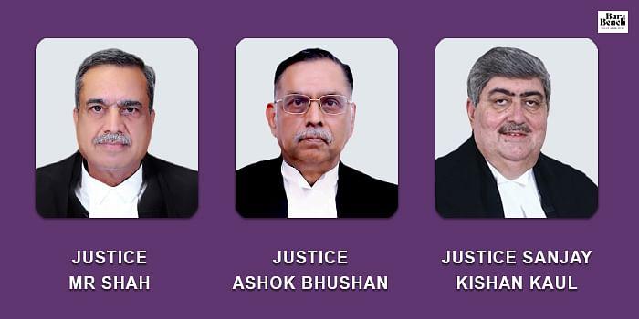 MR Shah, Ashok Bhushan and Sanjay Kishan Kaul