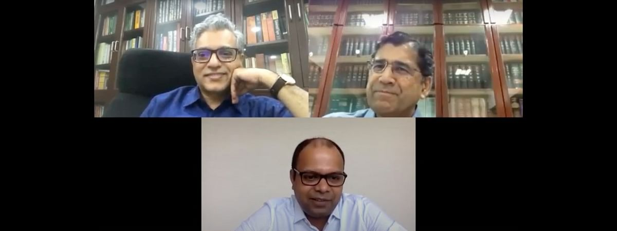 PS Narasimha (top left), Arvind Datar (top right) and Mahesh Menon (centre down)