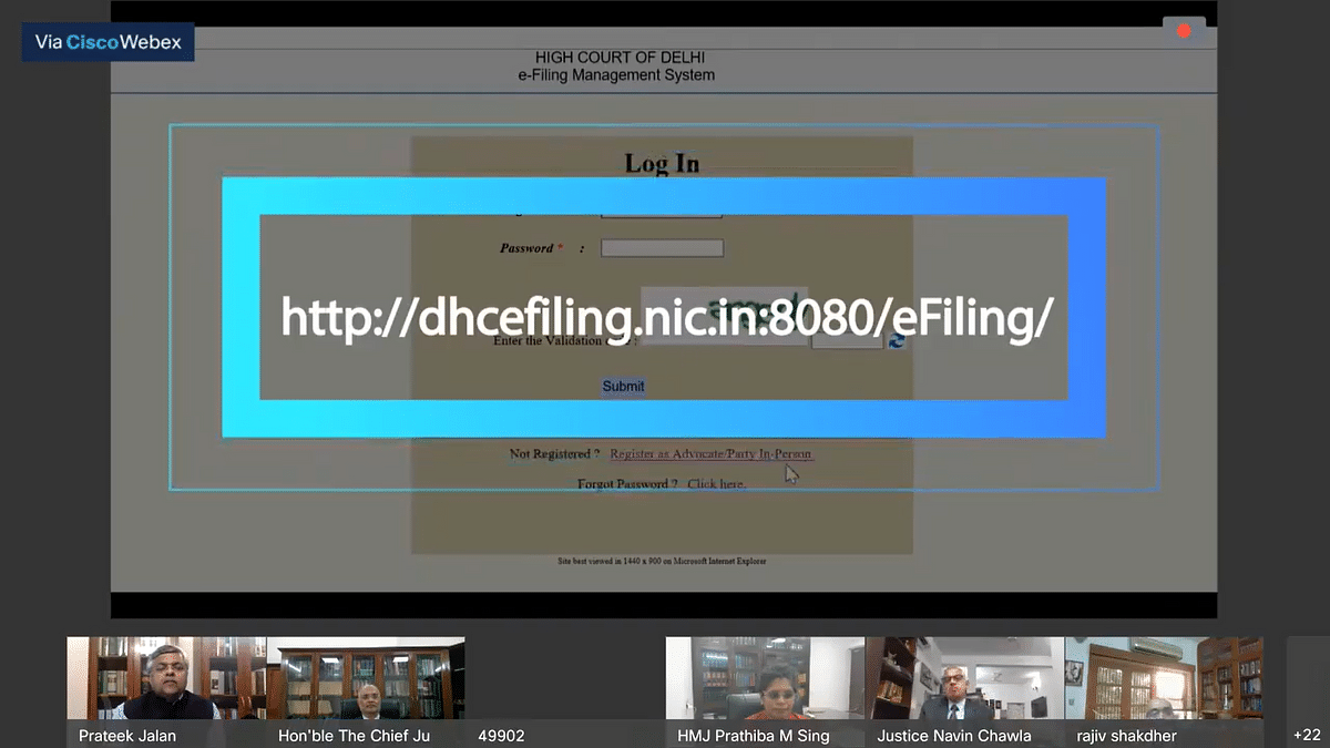 Portal for availing Online e filing - Delhi HC