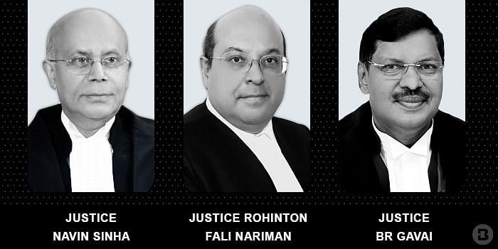 Justice Rohinton Fali Nariman, Justice  Navin Sinha and Justice BR Gavai