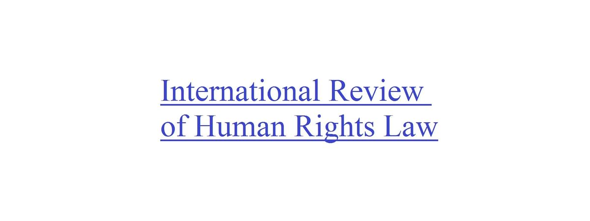International Review of Human Rights Law