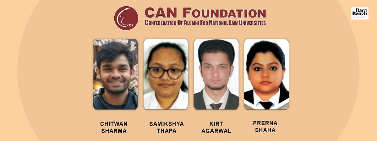 CAN Foundation announces four Law Graduates selected under Project Dhananjay to kickstart their Litigation Career