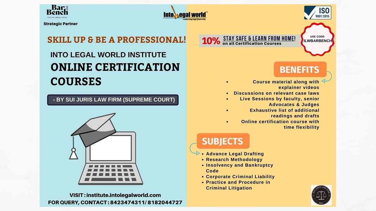 Professional Certification Courses by Into Legal World Institute