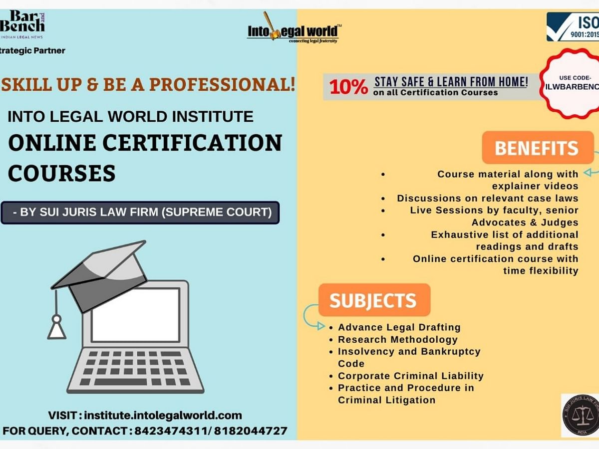 #Sponsored: Professional Certification Courses by Into Legal World Institute - Register Today!