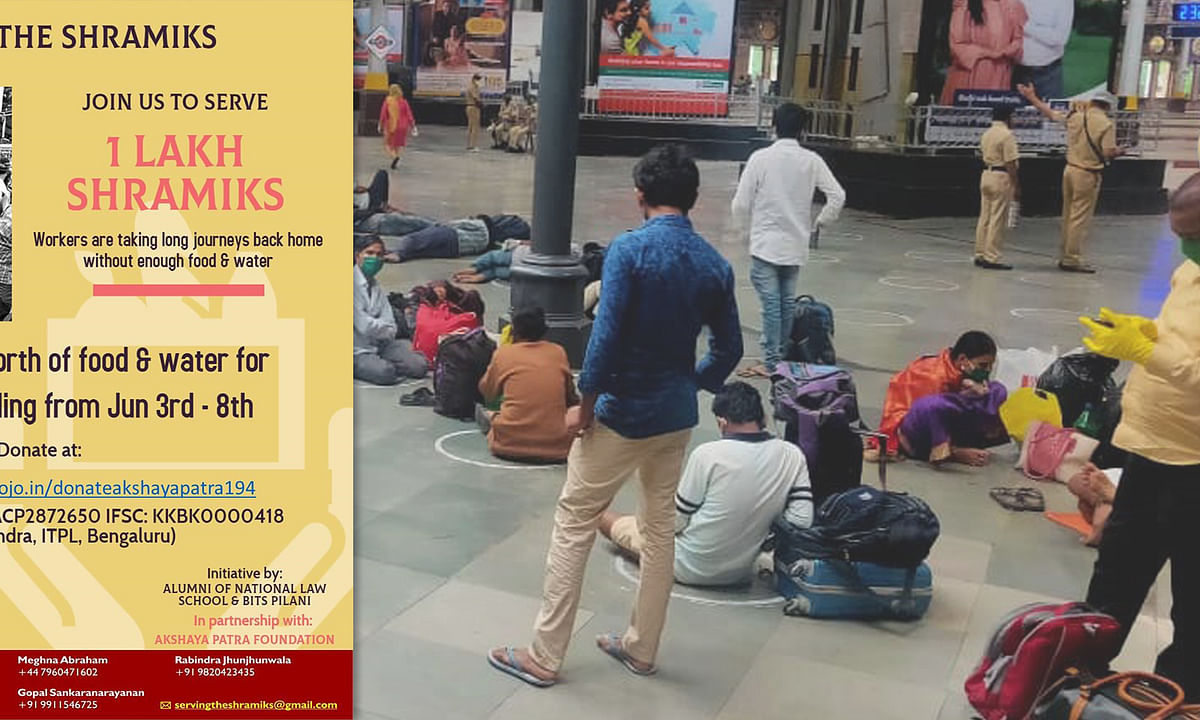 Call to aid: NLSIU alumni launch an initiative to provide food, water to 1 lakh Migrant Workers boarding Shramik trains