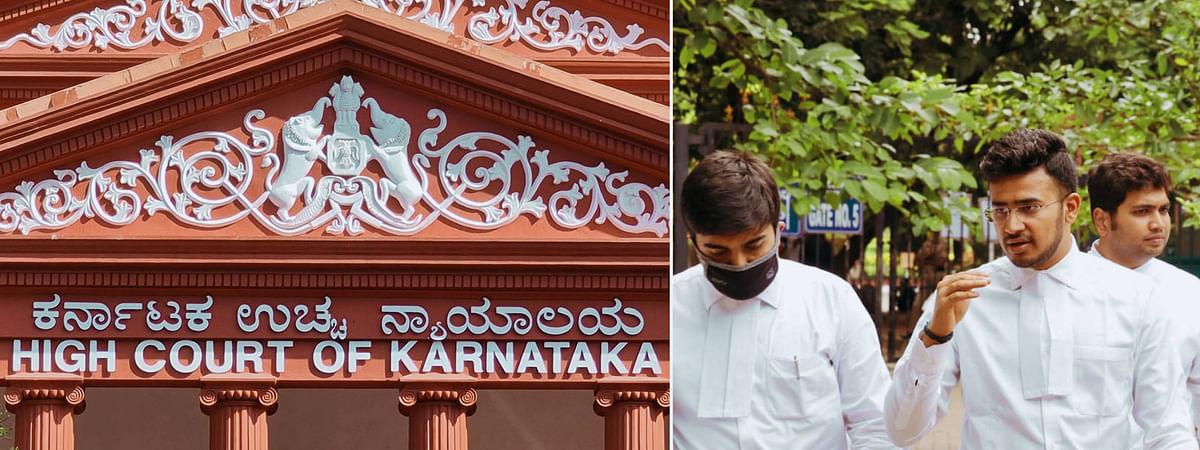 Tejasvi Surya appearing before Karnataka High Court