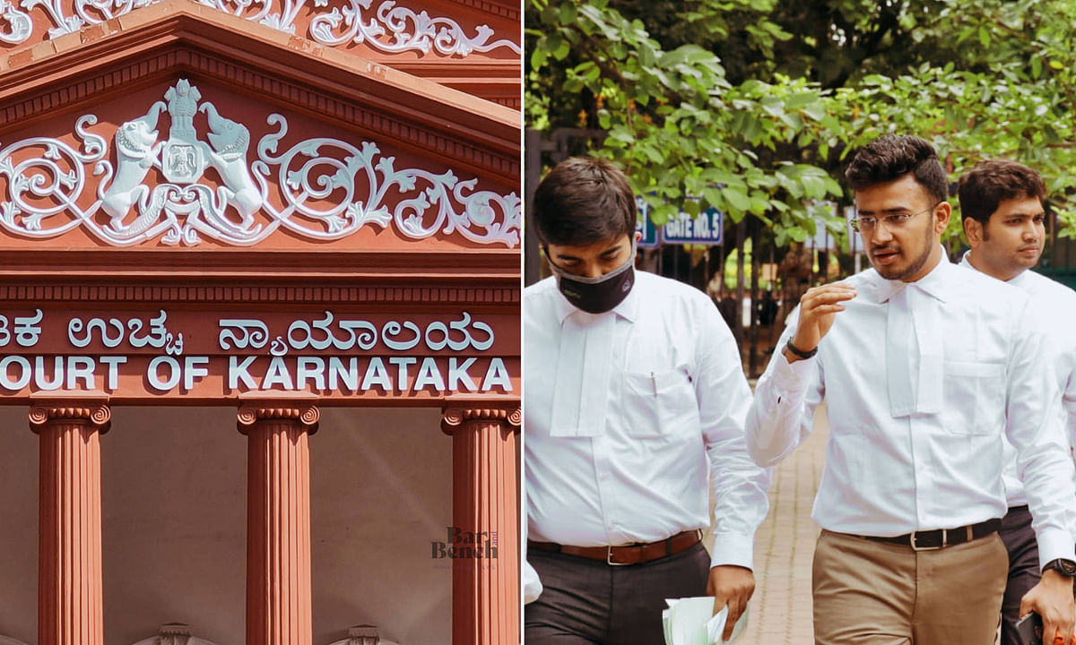 Tejasvi Surya appearing before Karnataka High Court