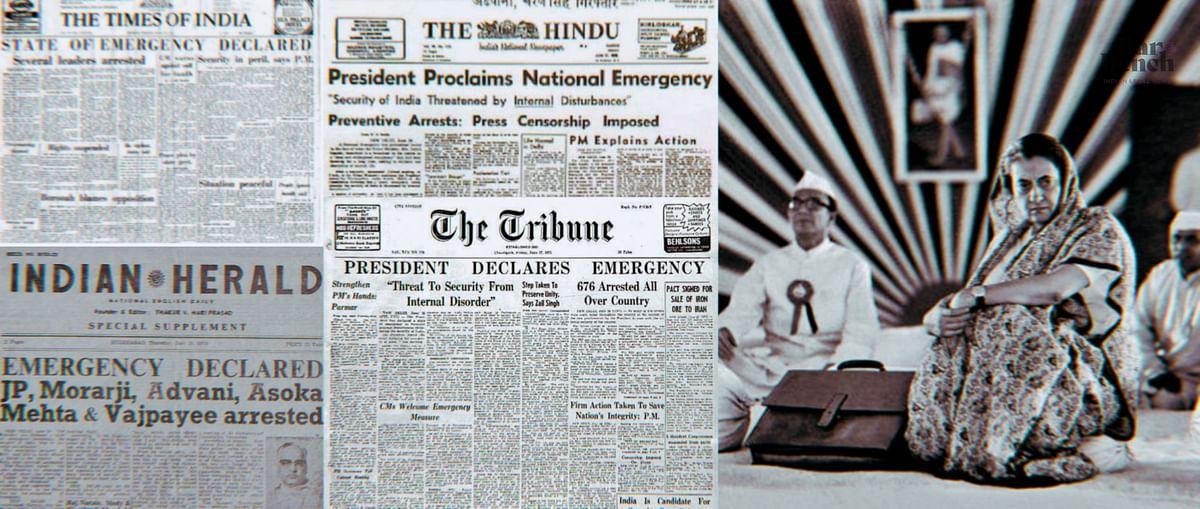 Declaration of National Emergency (The Hindu, June 26, 1975) Pic Courtesy: Indpaedia