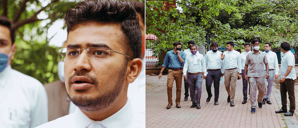 Advocate Tejasvi Surya and his colleagues
