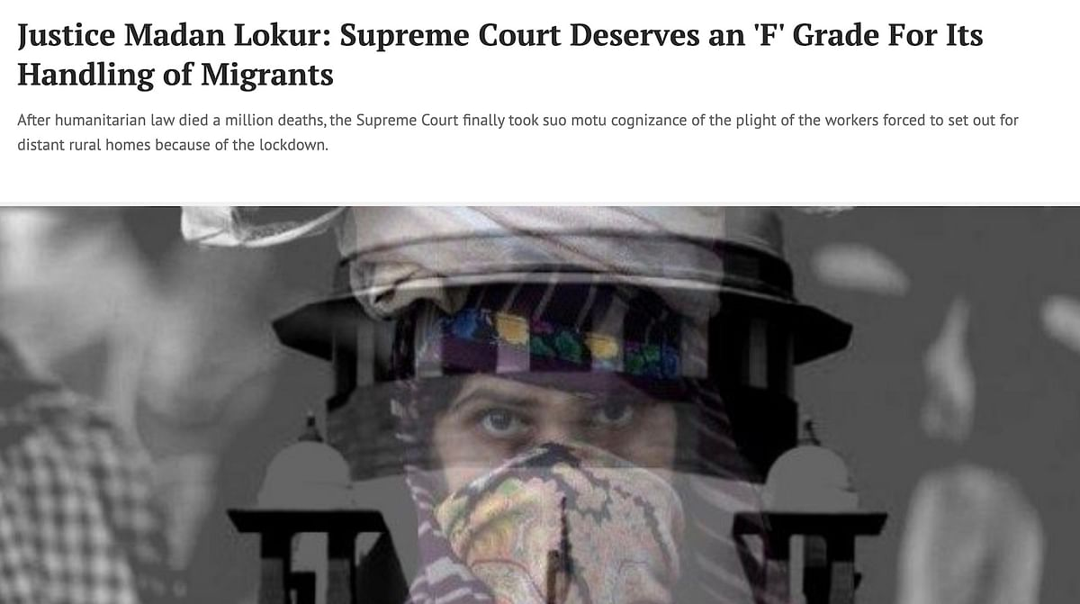 Justice Lokur Article in The Wire