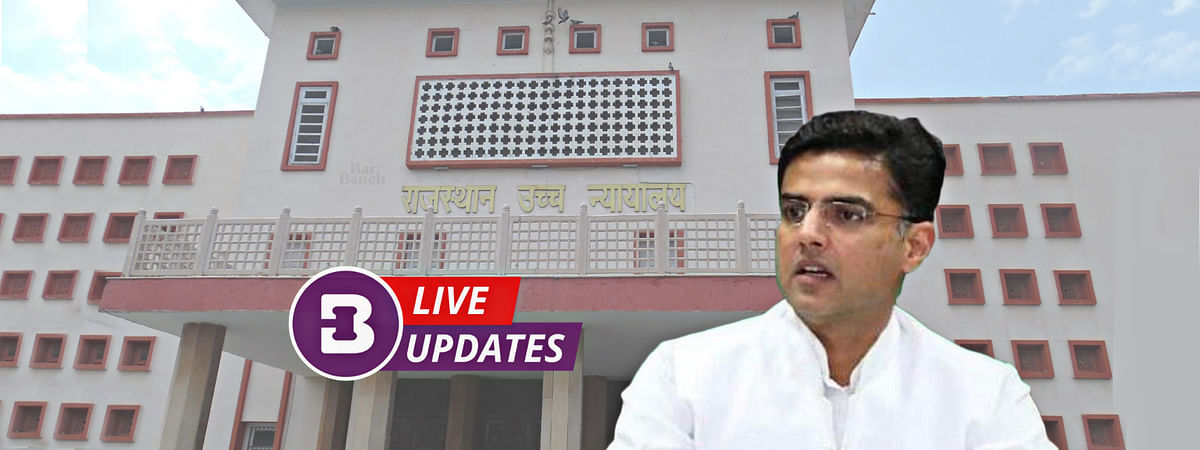 Rajasthan Political Crisis: HC hears pleas by Sachin Pilot, other rebel INC MLAs against Speaker's notice [LIVE UPDATES]