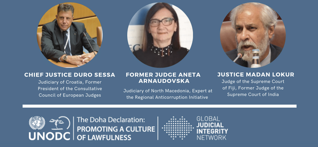 How far should the assets of Judges be disclosed to the public? Judges discuss during UNODC Global Judicial Integrity Network Webinar