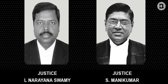 Justices L Narayanswamy and S Mani Kumar