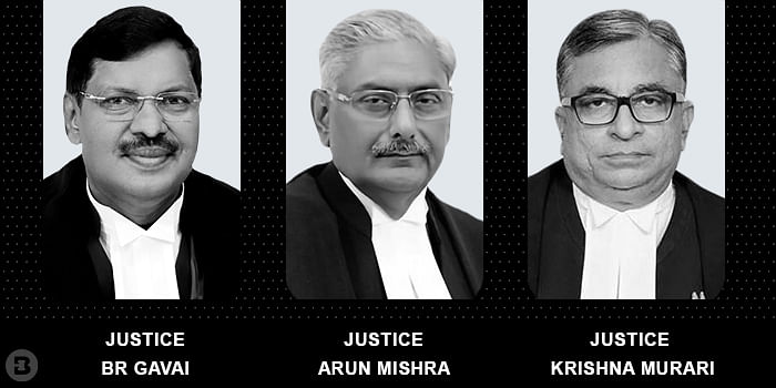 Justices Arun Mishra, BR Gavai and Krishna Murari