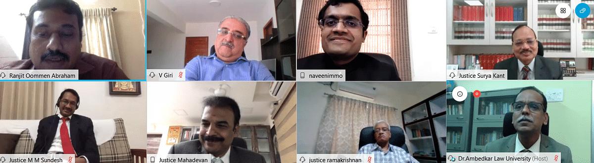 National Virtual Seminar on Access to Justice, organised by Tamil Nadu Dr. Ambedkar Law University, Chennai