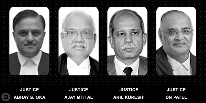 Abhay S. Oka, Justice Ajay Mittal , Justice Akil Kureshiand Justice DN Patel