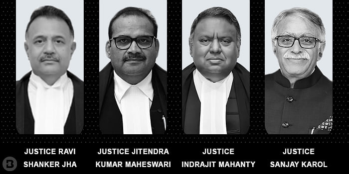 Justices Ravi Shanker Jha, Jitendra Kumar Maheswari, Indrajit Mahanty, Sanjay Karol