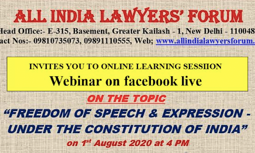 """Webinar Alert: Justice Indira Banerjee to speak on """"Right to Speech and Expression under the Constitution of India"""" tomorrow"""