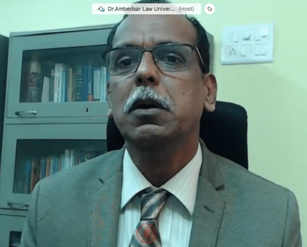 Professor Sastry, TNDALU, Chennai