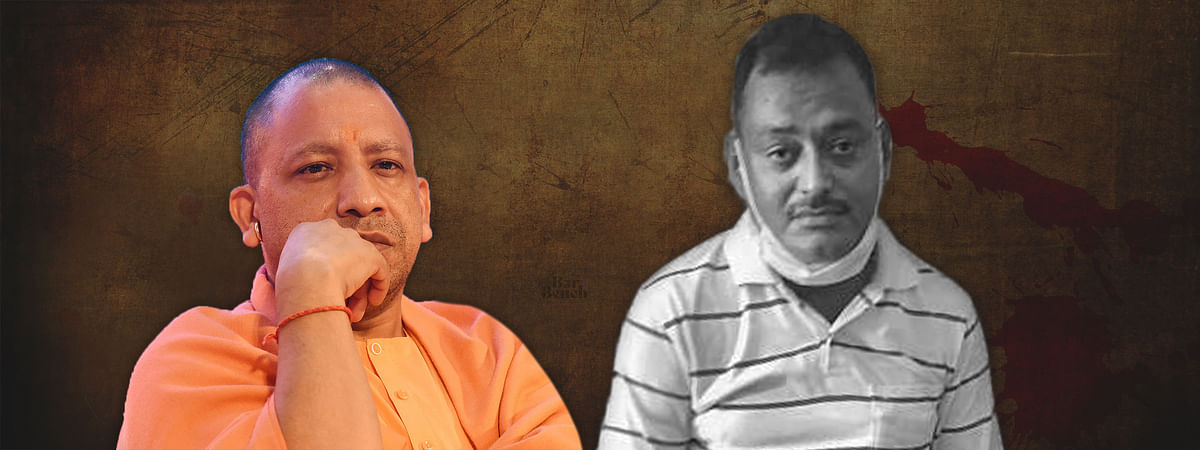 Yogi Adityanath and Vikas Dubey