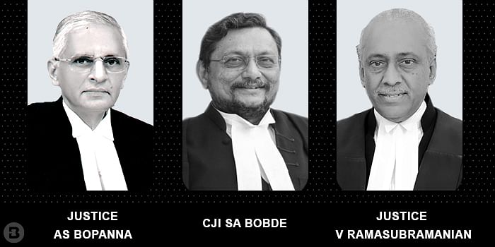 CJI SA Bobde and Justices AS Bopanna and V Ramasubramanian