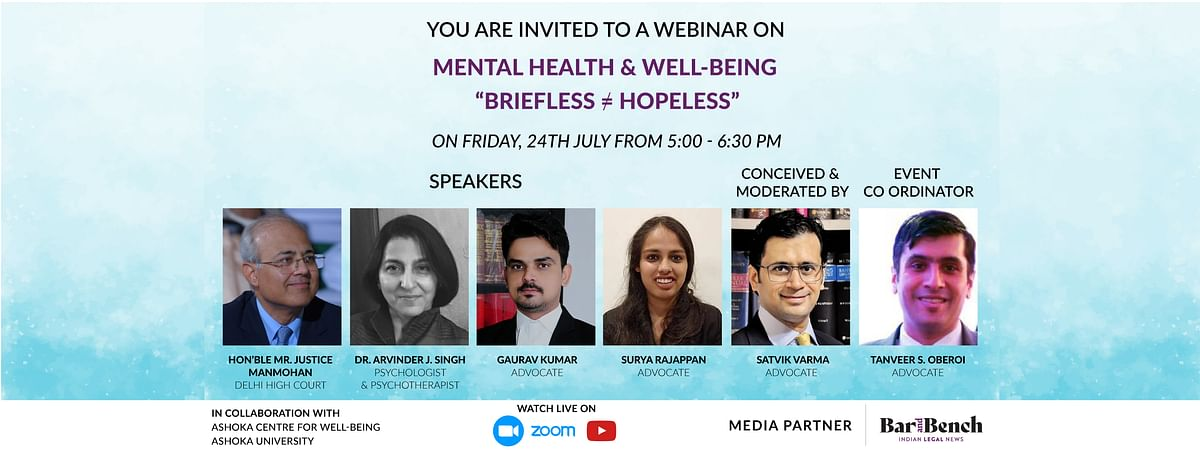 Mental Health and Well-being; Briefless  ≠ Hopeless webinar