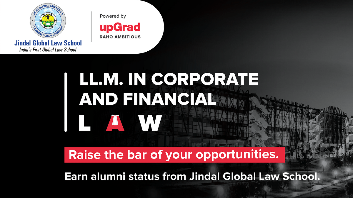 #Sponsored: JGLS LL.M. in Corporate & Financial Law - An opportunity to upskill and specialize your career pathway