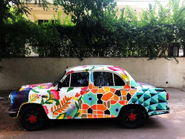 "Punjab & Haryana HC comes to aid of Ambassador owner after Mexican street artist's graffiti on ""White"" car creates registration trouble"