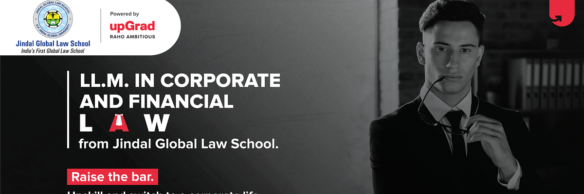 #Sponsored: Raise the Bar of your career with Jindal Global Law School's LL.M. in Corporate & Financial Law Program