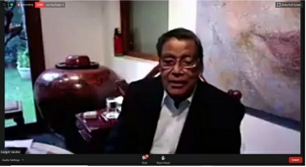 AG KK Venugopal during the virtual farewell for Justice R Banumathi