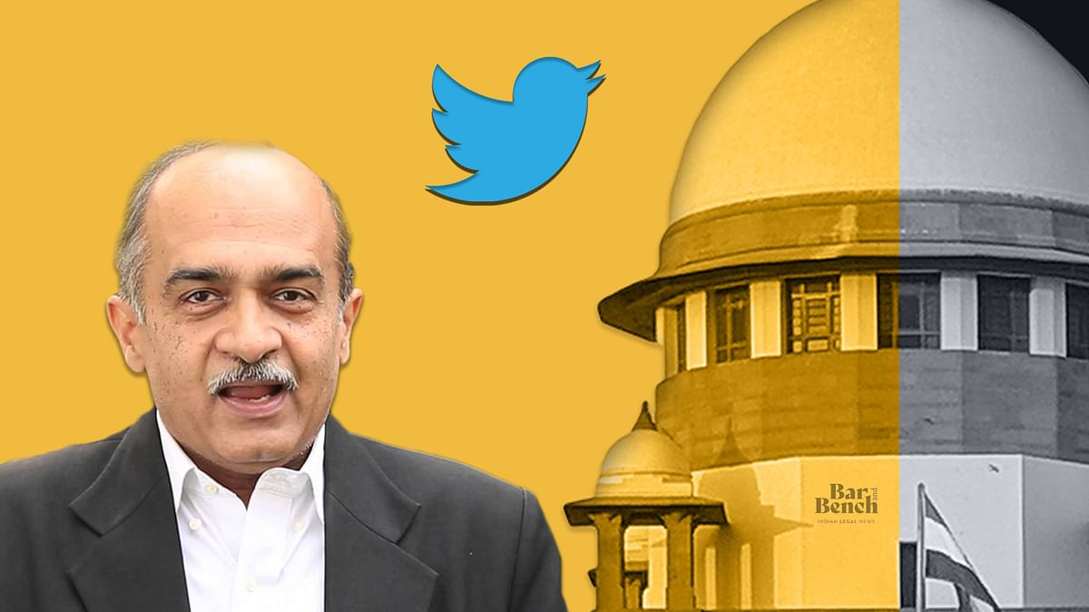 "[BREAKING]  Twitter ""Withholds"" Advocate Prashant Bhushan's Tweets after Suo Motu Contempt Notice by Supreme Court"