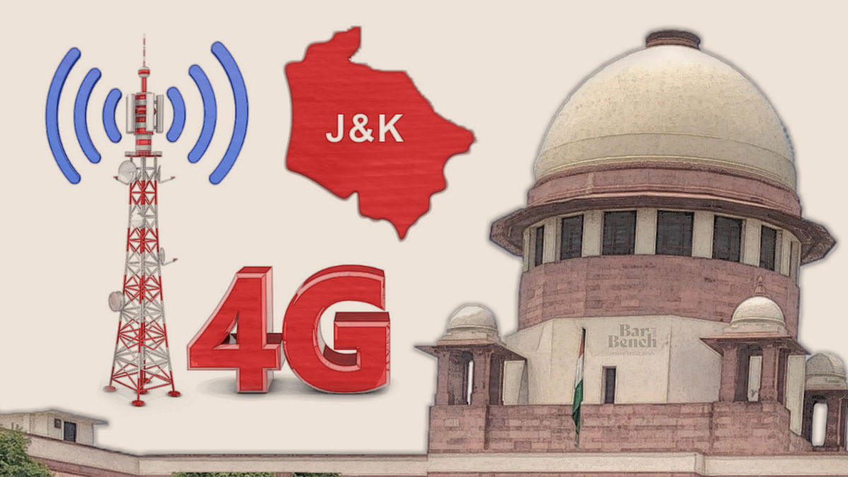 4G Internet in Jammu & Kashmir: Will restore service in select districts on experimental basis after August 15, AG tells Supreme Court