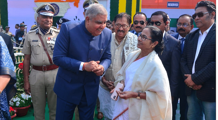Governor with Chief Minister Mamta Banerjee