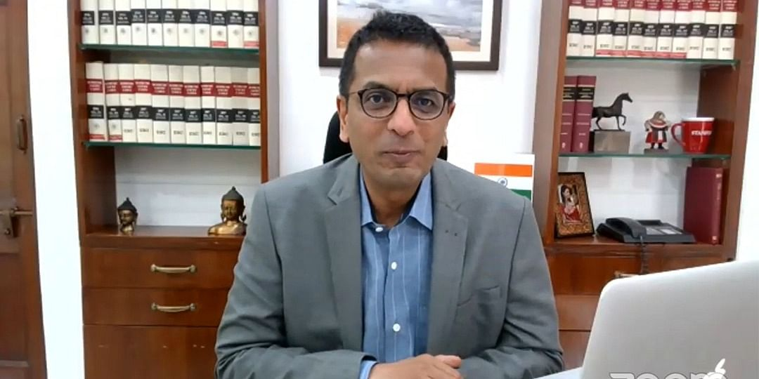 Justice DY Chandrachud during e-inauguration of e-committee's new website