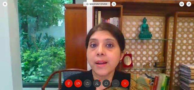 ASG Madhavi Divan speaking during the Session