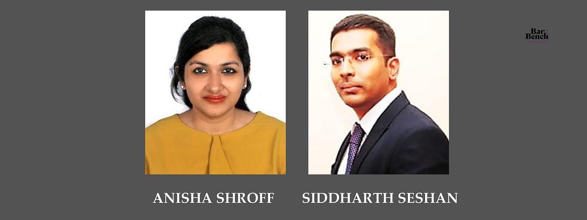 Samvad promotes Anisha Shroff and Siddharth Seshan to partnership