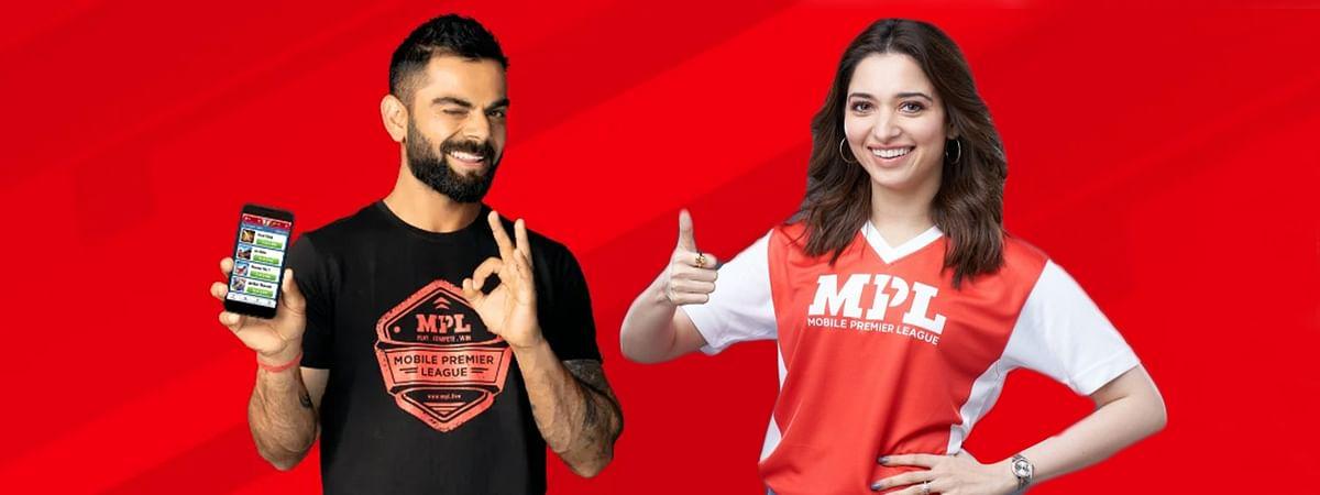 Virat Kohli (L), Tamannah (R) both endorse a mobile gaming platform dubbed Mobile Premier League (MPL)