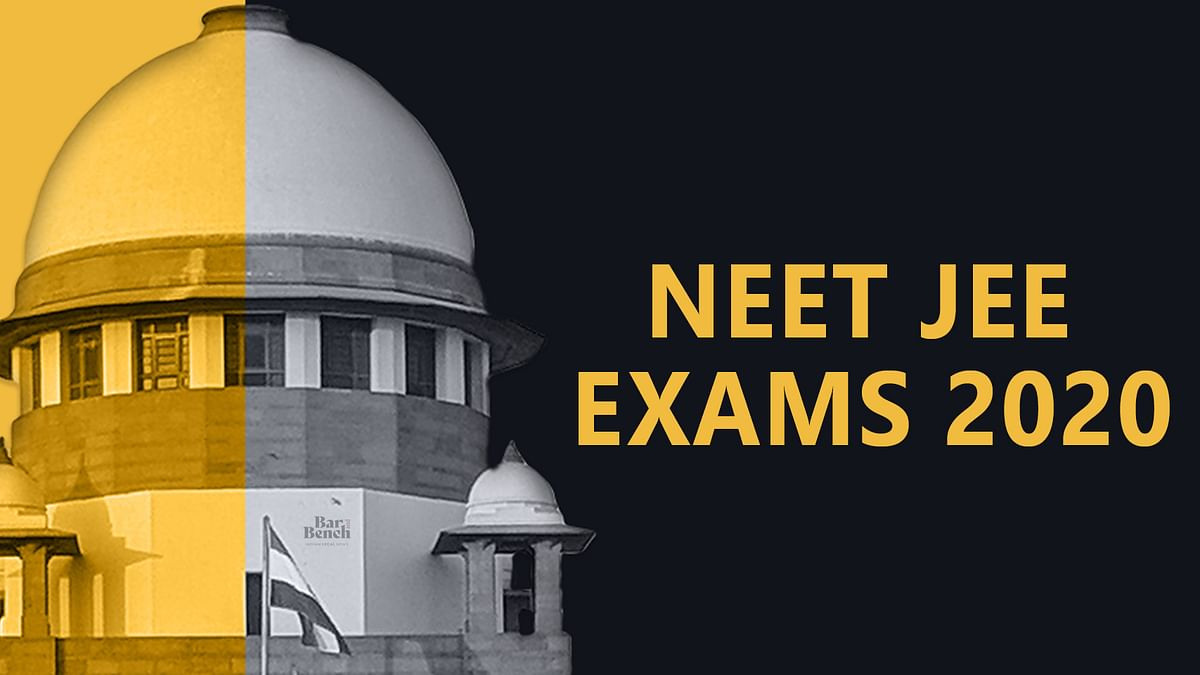 Two students write letter petition to CJI Bobde asking Supreme Court to quash NEET-JEE September exam notification