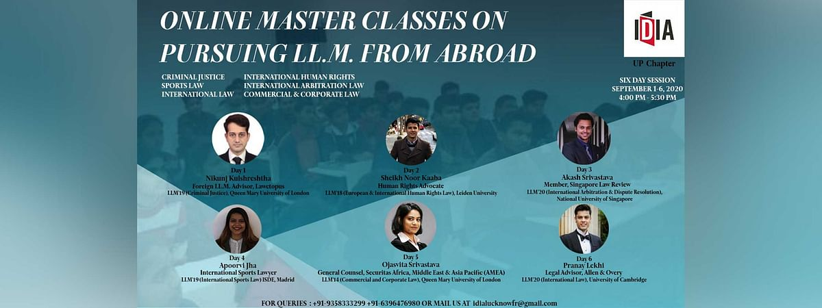 IDIA's Master Class on pursuing a foreign LL.M. (Register by August 31)