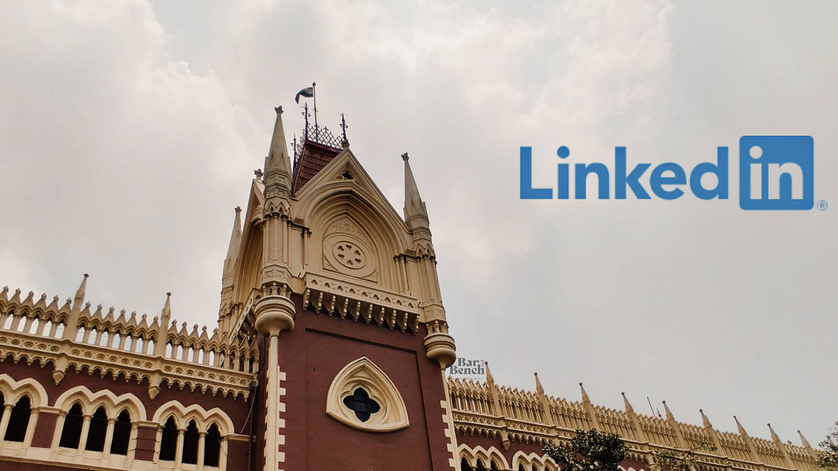 Linkedin post with a screenshot of virtual court hearing: Calcutta HC drops contempt proceedings after apology