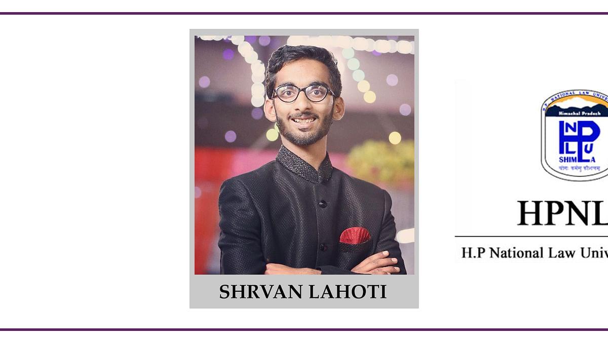 Meet our Campus Ambassadors: Shrvan Lahoti, HPNLU