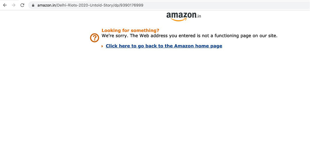 The Book is no longer available on Amazon through Bloomsbury- Delhi Riots 2020