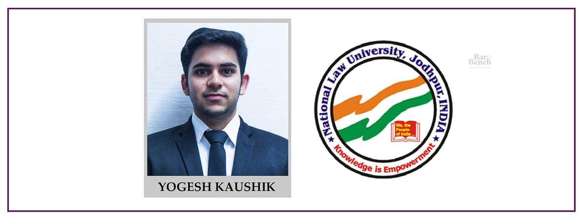 Meet our Campus Ambassadors: Yogesh Kaushik, NLU Jodhpur