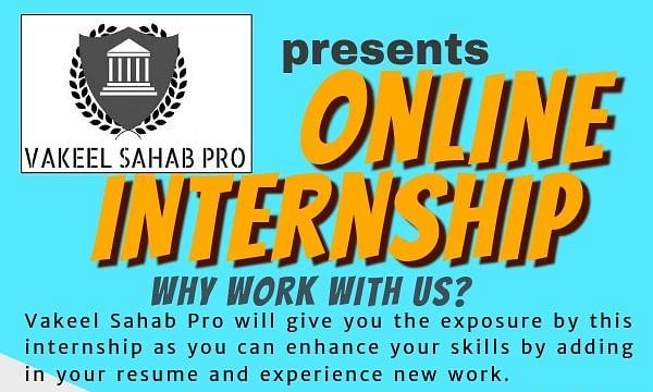 Vakeel Sahab Pro offering online internships starting September 25