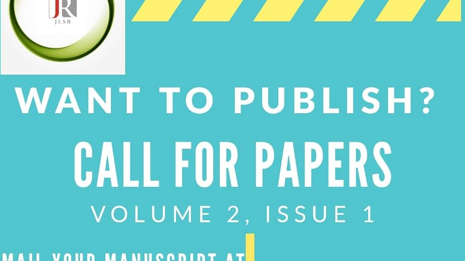 Call for Papers: Journal for Law Students and Researchers (Submit by 1st Nov)