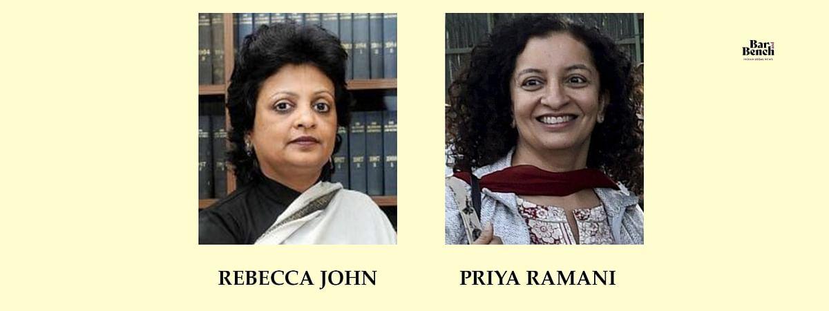 Priya Ramani and Rebecca John