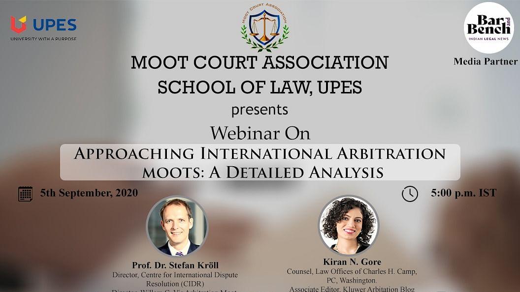 """Webinar Alert: """"Approaching International Arbitration Moots: A Detailed Analysis"""" (Sept. 5)"""
