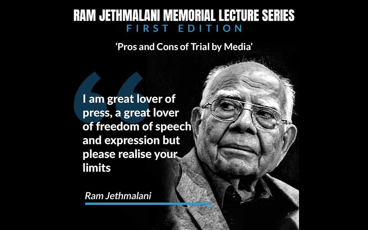 "Ram Jethmalani Memorial Lecture Series: Webinar to be held on ""Pros and Cons of Trial by Media"" today"